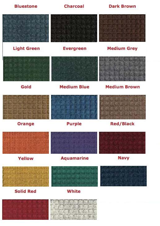 Waterhog Eco Inlay Colors | Treasure Coast Mats